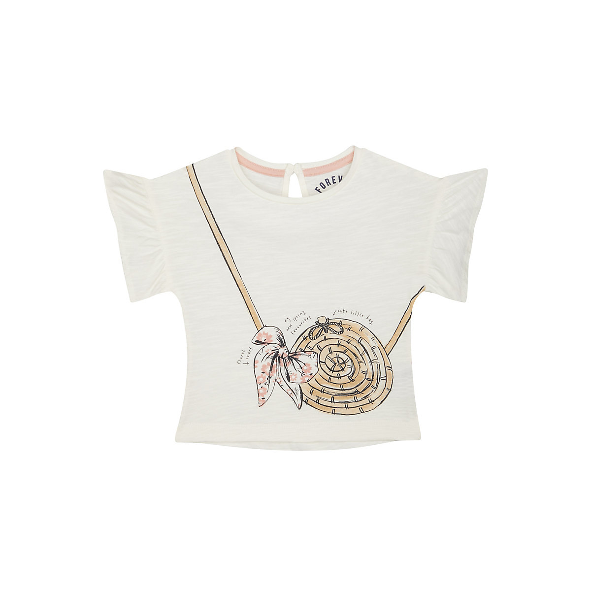 frilled handbag tee