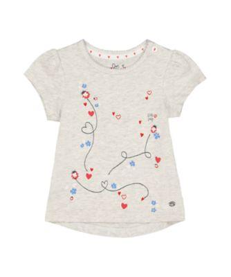 grey marl ladybird t-shirt