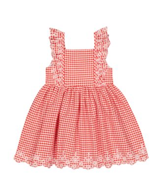 red gingham dress