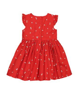 red strawberry dress