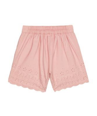 pink broderie shorts