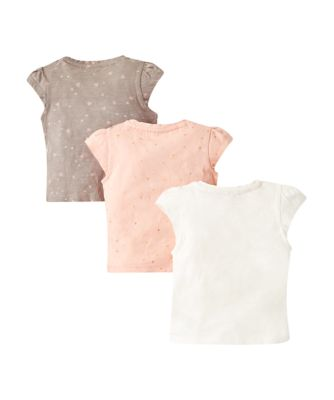 girl, pink and hearts t-shirts – 3 pack