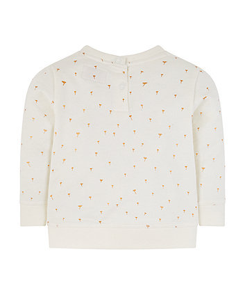 dandelion wish foil sweat top