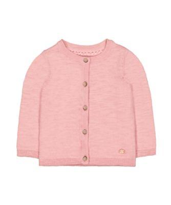 pink knit cardigan