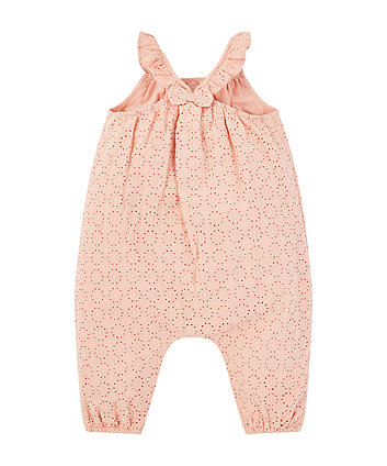 pink broderie jumpsuit