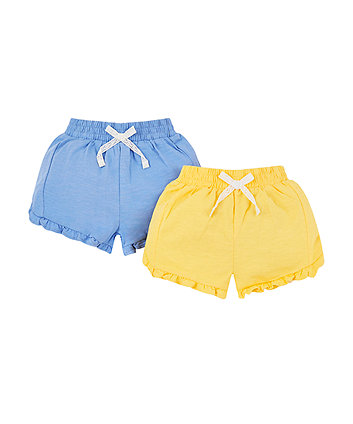 yellow and blue shorts - 2 pack
