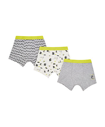 grey zig zag trunks - 3 pack