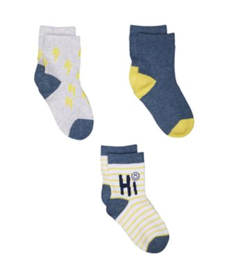 lightning bolt socks - 3 pack
