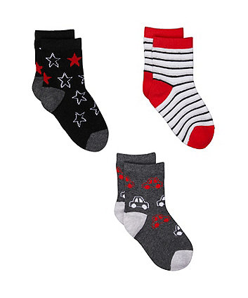 car socks - 3 pack