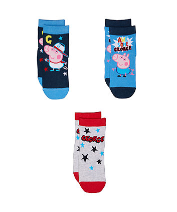 george pig socks - 3 pack