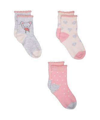 little mouse socks - 3 pack