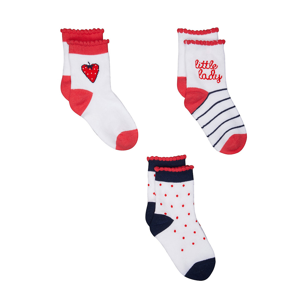 strawberry socks - 3 pack