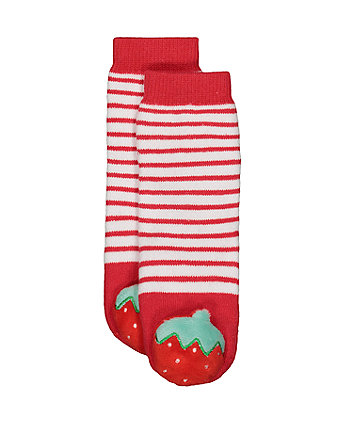 strawberry rattle socks