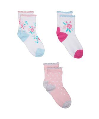floral socks - 3 pack