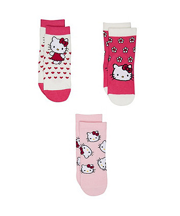 hello kitty socks - 3 pack