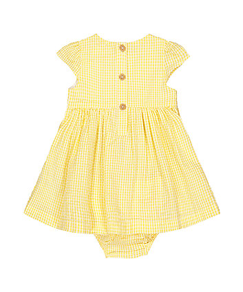 little bird gingham dress and bloomers set