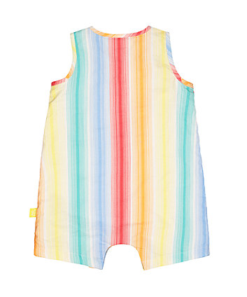 little bird stripe woven romper