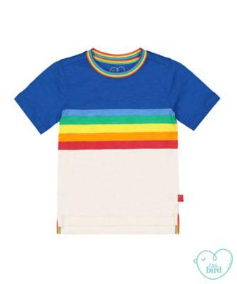 little bird rainbow stripes t-shirt