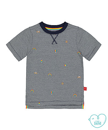 little bird rainbow stripe t-shirt