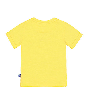 little bird yellow rainbow t-shirt