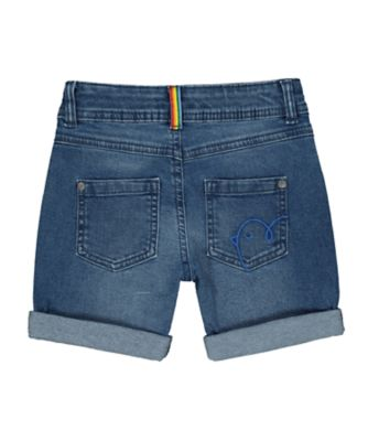 little bird rainbow denim shorts