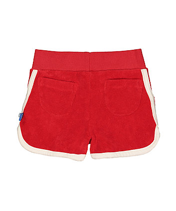 little bird red towelling shorts