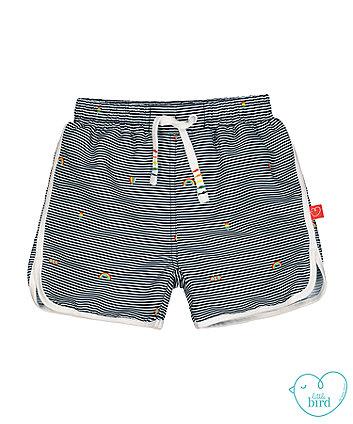 little bird blue striped swim shorts