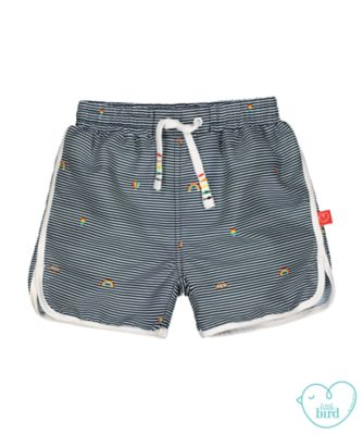 little bird blue striped swim shorts