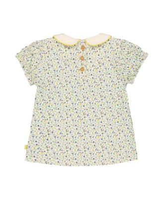 little bird floral collar t-shirt