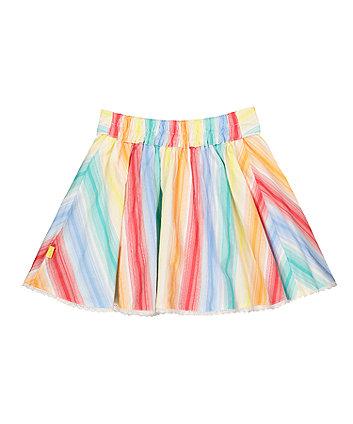 little bird rainbow striped skirt