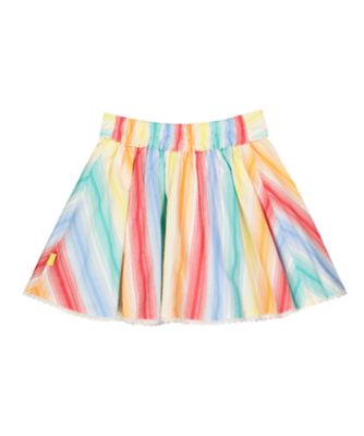 little bird rainbow striped skirt