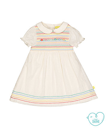 little bird floral smock dress