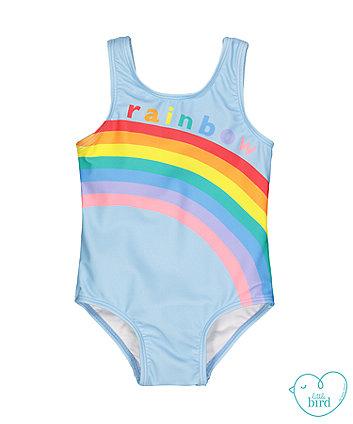 little bird blue rainbow swimsuit