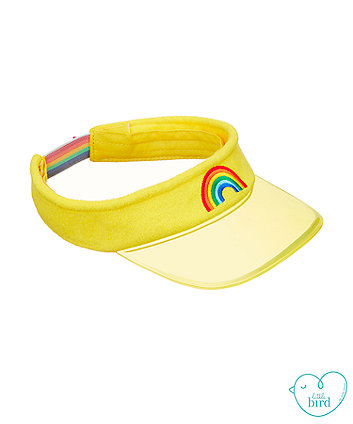 little bird yellow visor