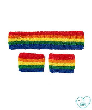 little bird rainbow sweatband set