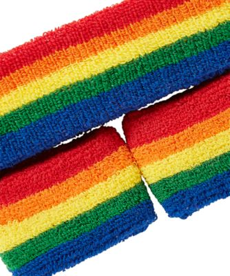 little bird rainbow sweatband set