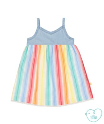 little bird rainbow stripe dress