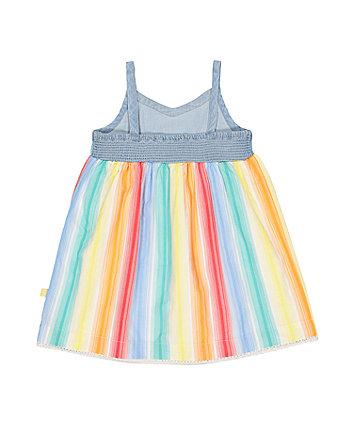 little bird rainbow stripe dress