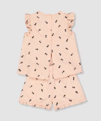 my k pineapple top and shorts set