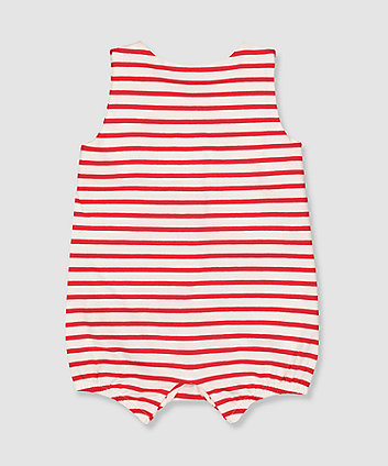 my k tiny human stripe romper