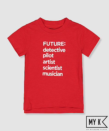 my k red future career t-shirt