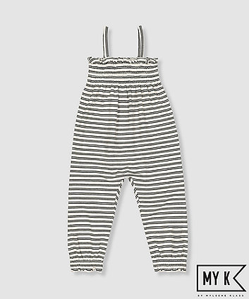 my k striped jumpsuit