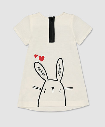 my k white bunny dress
