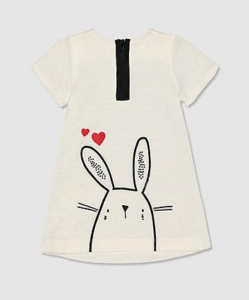 my k white bunny dress