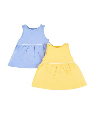 blue and yellow bow vests - 2 pack