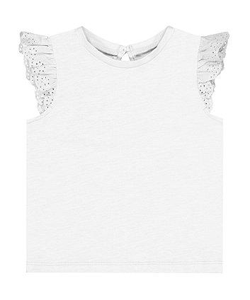 white broderie vest