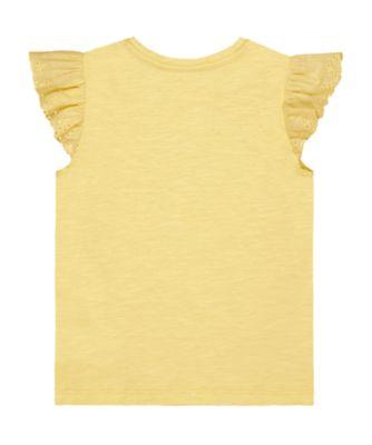 yellow broderie vest