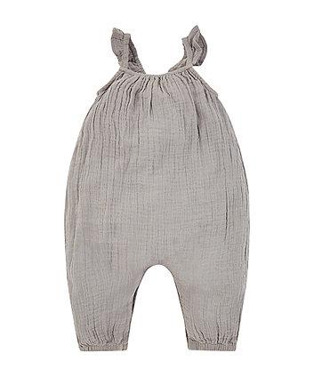 charcoal woven jumpsuit