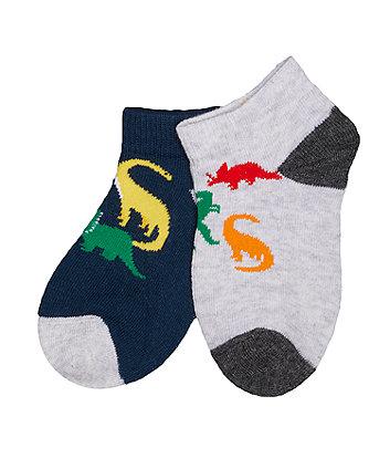 dinosaur trainer socks - 3 pack