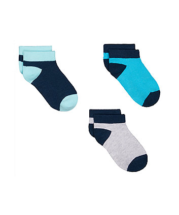 blue trainer socks - 3 pack